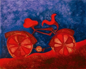 "Katerina Marouda, ""Red bicycle"""