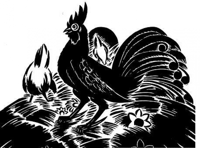 "Franz Masereel,  ""the rooster"" 1952"