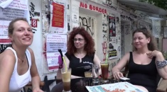 Blockupy goes athens: Margarita Georganopoulos and Olga Lafazani from Diktyo
